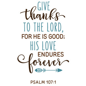give thanks to the lord phrase