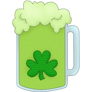 beer with shamrock