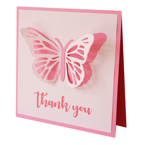 thank you butterfly card