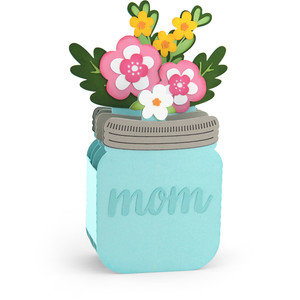 mason jar mom bouquet box card