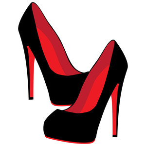 high heel shoes