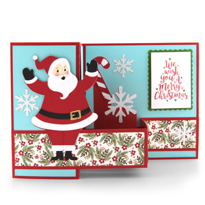 pop up box card christmas santa