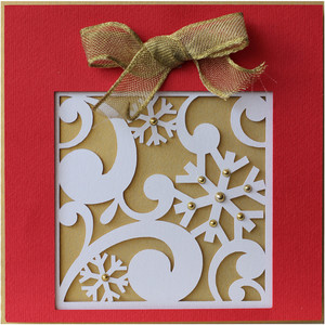 christmas gift layer card