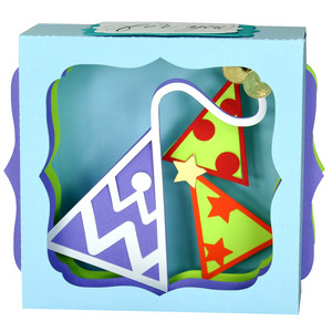 party hat gift card box