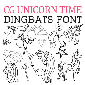 cg unicorn time dingbats