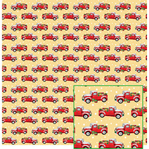 christmas truck in the snow pattern