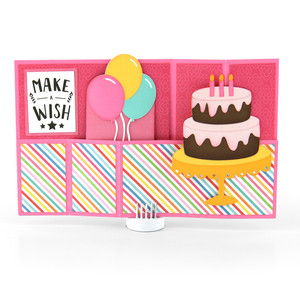 wiper card birthday cake