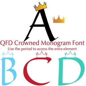 qfd crowned monogram font