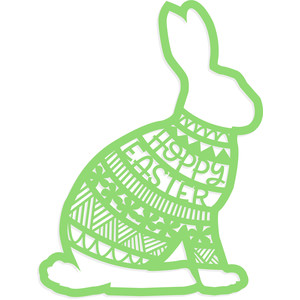 hoppy easter floral rabbit