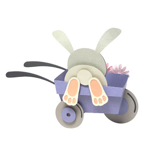 rabbit in the wheelbarrow