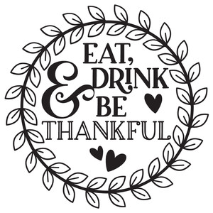 eat, drink & be thankful wreath