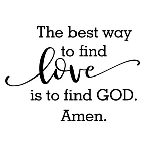 find love find god