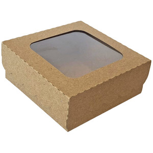 window cookie box with scallop lid