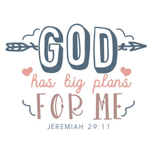 god has big plans for me nursery quote