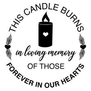 this candle burns in loving memory