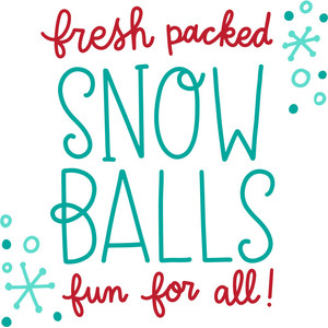 fresh packed snow balls