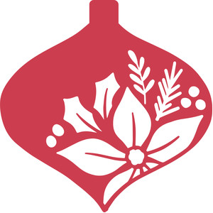 poinsettia ornament