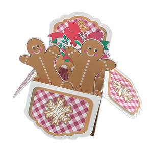 5x7 gingerbread man pop up card in a box