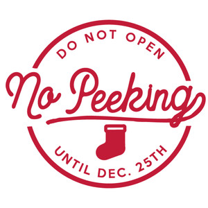 no peeking label  & tag