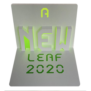 new leaf 2020 popup card