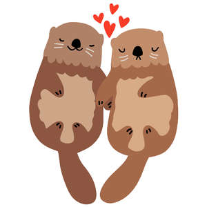 valentine's day sea otters