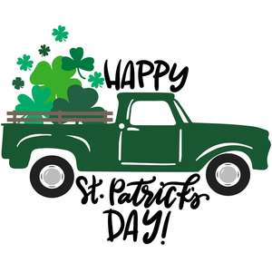 happy st. patrick's day truck