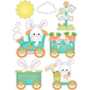 easter carrot patch train stickers