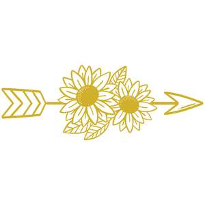 sunflower boho arrow