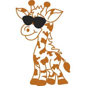 giraffe with sunglasses