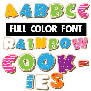 rainbow cookies color font