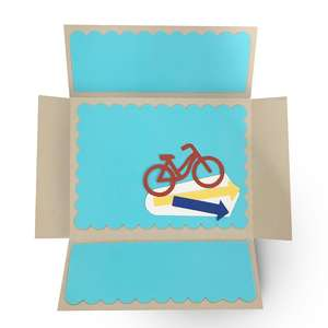 a2 double fold out card - bike
