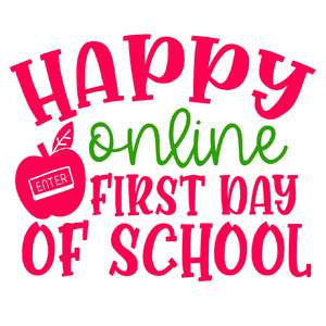 happy online first day of school