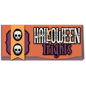halloween frights long card kit