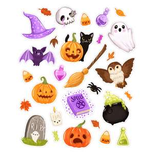 halloween kawaii planner stickers