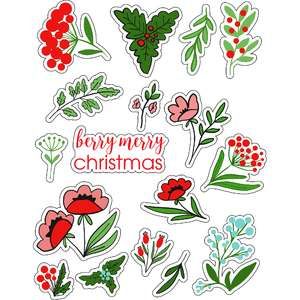 ml berries for christmas stickers