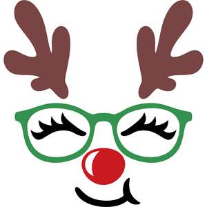 face reindeer with glasses