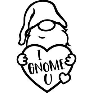 i gnome you valentine's day gnome