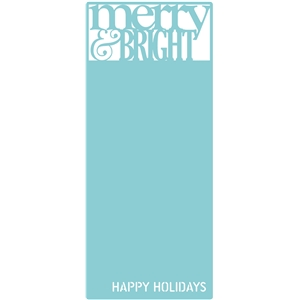 merry & bright letter-size card