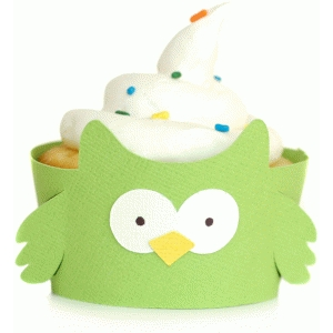 owl cupcake wrapper