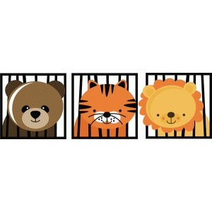 zoo animals in a cage