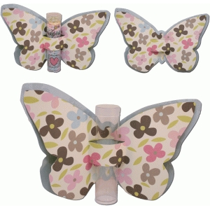 3d butterfly tube holder