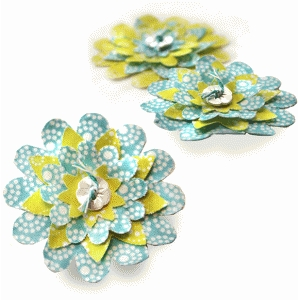 daisy darlings fabric flower