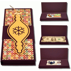 3d ornament gift box with inserts