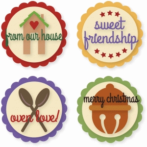 circle tags and mason jar lid décorations