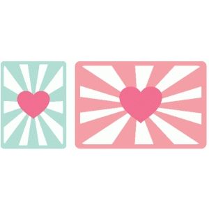 heart starburst journaling cards