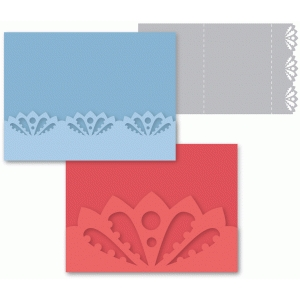 set of 2 lotus flower trifold cards
