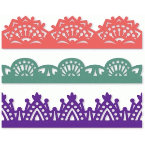 set of three ornate borders