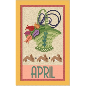 april calendar graphica quilt panel