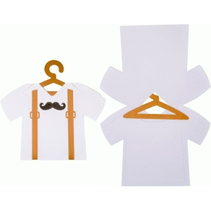 baby mustache suspenders body card