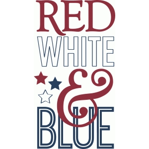 red, white & blue - phrase